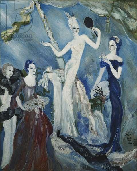 Decor Project for Paris Cafe; Projet de Decor pour le Cafe de Paris, 1937 (oil on canvas)