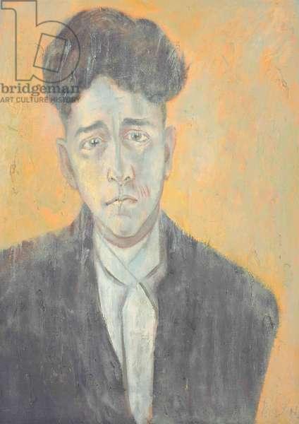 Portrait of Jean Cocteau (oil on canvas board)