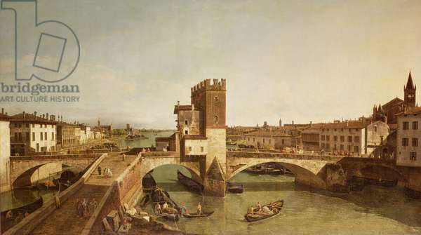 The Bridge at Delle Navi, Verona (oil on canvas)