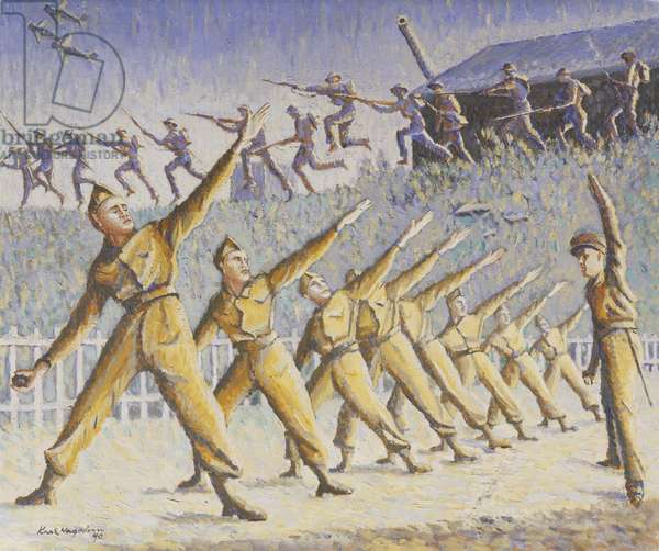 In Training, 1940 (oil on panel)