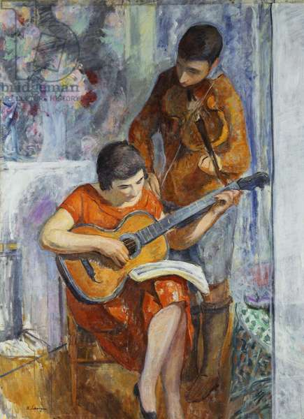 The Musicians; Les musiciens, c.1930 (oil on canvas)