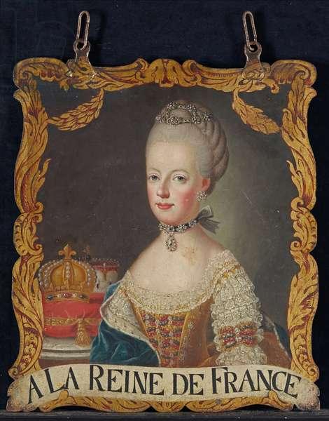 Marie Antoinette sign, after 1774 (oil on metal)