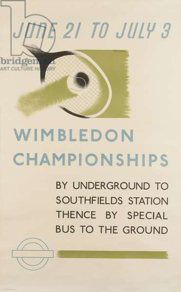 Wimbledon Championships, 1937 (colour litho)