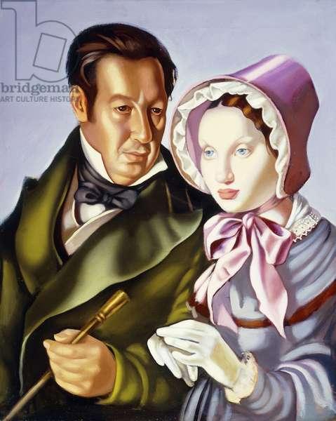 The Couple; Le Couple,  (oil on canvas)