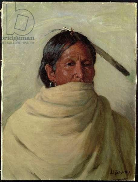 Standing-Deer-Taos (oil on canvas)