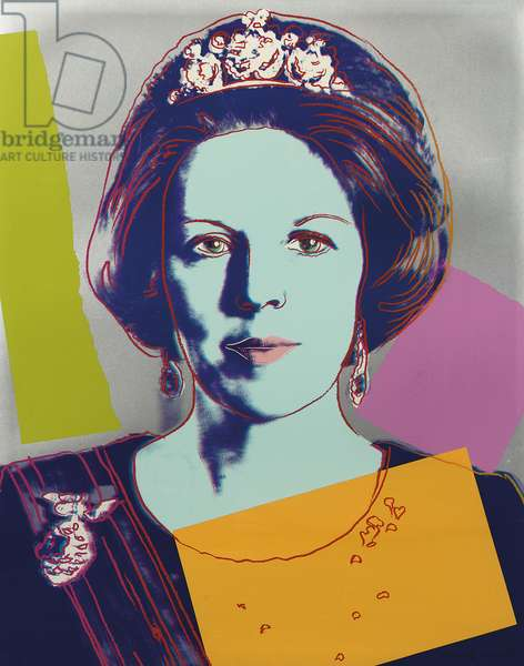 Queen Beatrix of the Netherlands, from 'Reigning Queens', 1985 (screenprint) (see also 701268-71)