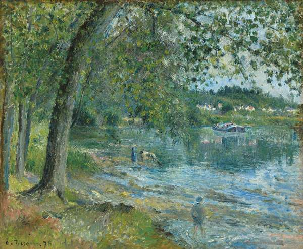 Banks of the Oise at Auvers-sur-Oise; Bords de l'Oise a Auvers-sur-Oise, 1878 (oil on canvas)