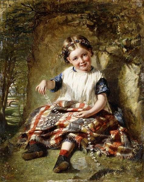 The Daisy Chain (oil on canvas)