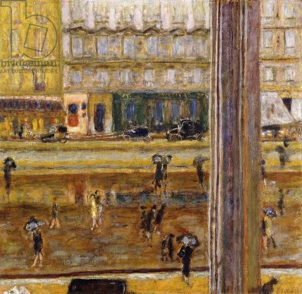 Boulevard des Batignolles (The Rain), c.1926 (oil on canvas)