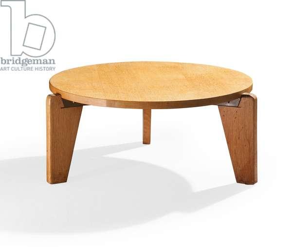 Coffee table, c.1950 (oak & bent steel)
