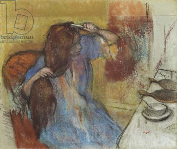 Woman at her Toilet; Femme a sa Toilette, c.1889 (pastel on paper)