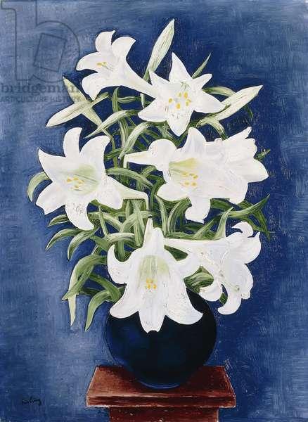 Vase of Lilies; Vase de Lys, 1935 (oil on canvas)