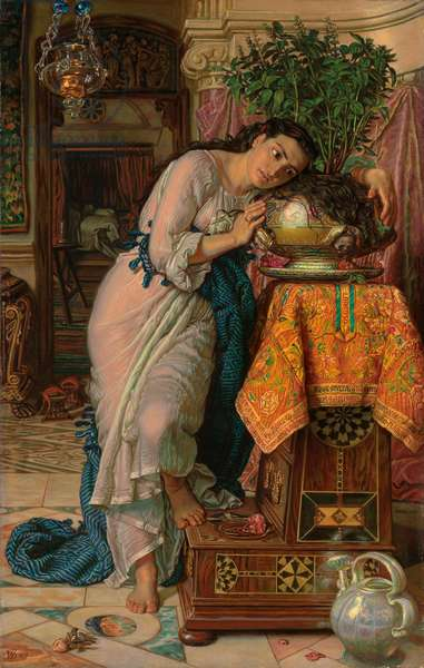 Isabella and the Pot of Basil, 1867 (oil on canvas)