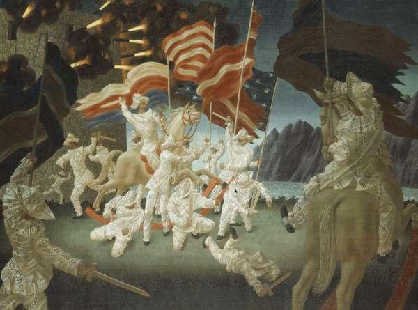 The Battle of Propaganda, 1953 (oil on canvas)