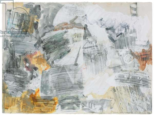 Untitled, 1968 (solvent transfer, gouache & graphite on paper)