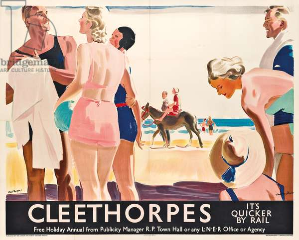 A poster advertising travel to Cleethorpes by London and North Eastern Railway, c.1925 (colour lithograph)