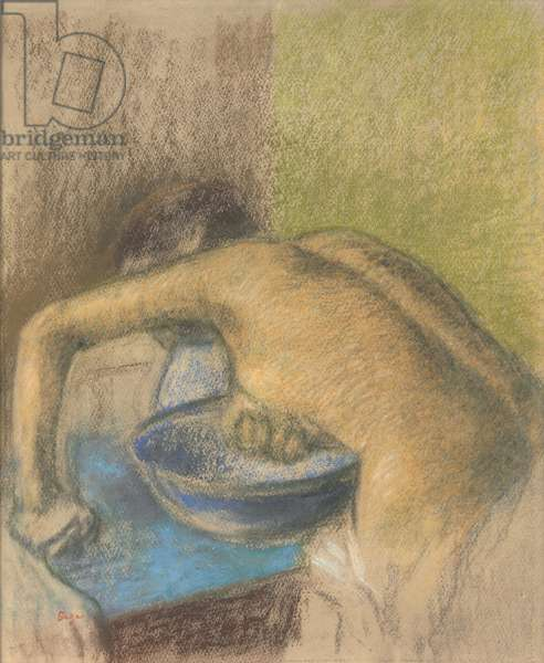 Woman at her Toilette; Femme a sa toilette, c.1888-1892 (pastel and charcoal on paper)