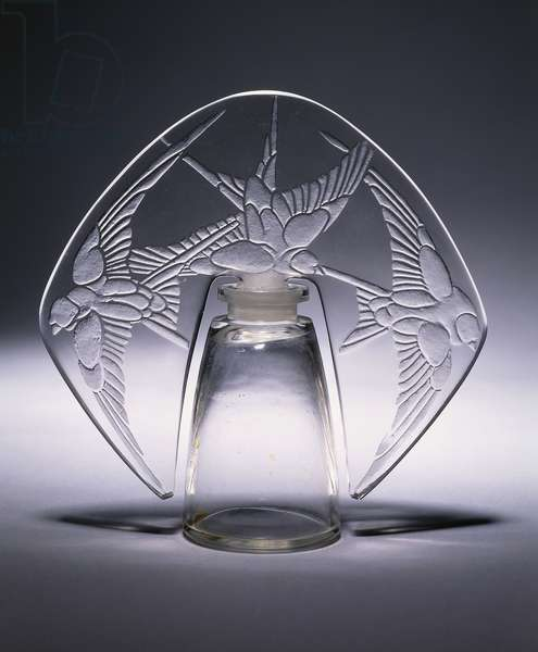 Bouchon Trois Hirondelles No. 496, c.1920 (clear and frosted glass)
