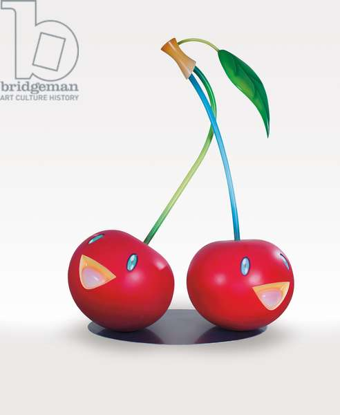 Cherries, 2005 (FRP, steel, acrylic, urethane paint)