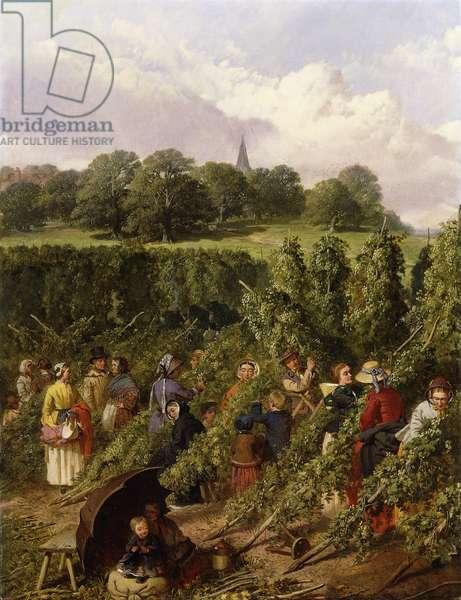 The Hop Pickers, 1855 (oil on canvas)