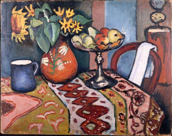 Still Life with Sunflowers II, 1911 (oil on board)