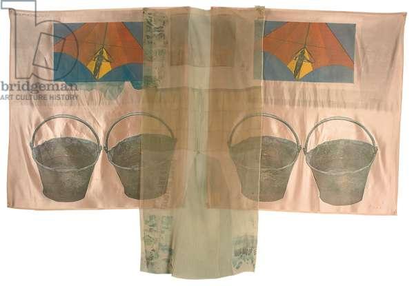 Plus Fours, 1974 (offset litho & screenprint transfers on silk chiffon & silk satin)