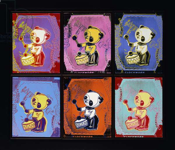 Clockwork Panda Drummer, 1983 (acrylic and silkscreen on canvas)