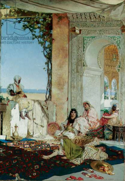 Women of a Harem in Morocco, 1875 (oil on canvas)