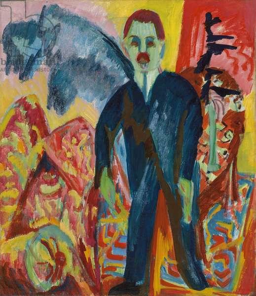 The Orderly; Der Krankenwarter, 1917-1918 (oil on canvas)