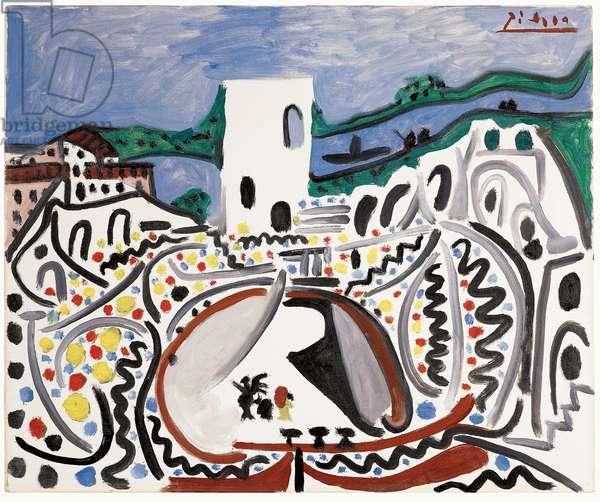 Arles: Les Arènes devant le Rhône, 1960 (oil on canvas)