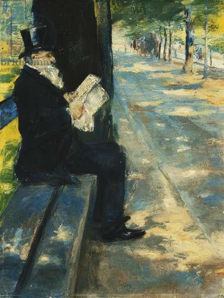 Gentleman in the Park; Herr im Tiergarten, c.1900 (pastel on board)