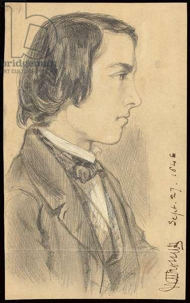 Portrait of William Michael Rossetti, 1846 (pencil on buff paper)