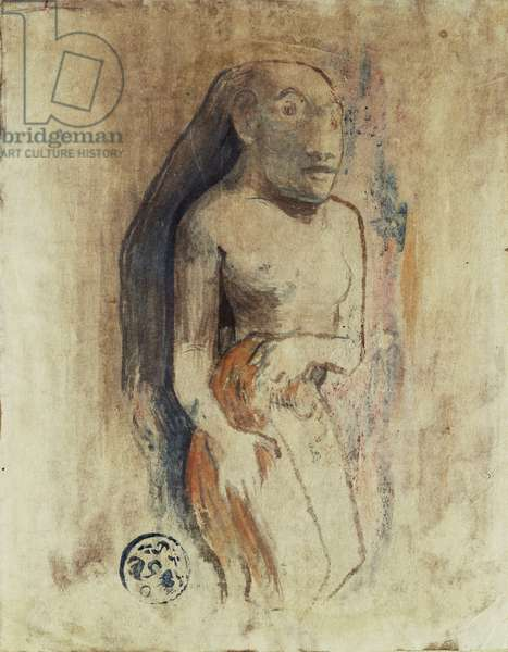 Oviri, 1894 (watercolour monotype heightened with gouache on Japan paper)