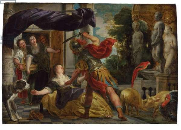Circe and Odysseus (oil on panel)