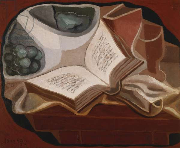 Book and Fruit Bowl; Livre et Compotier, 1925 (oil on canvas)