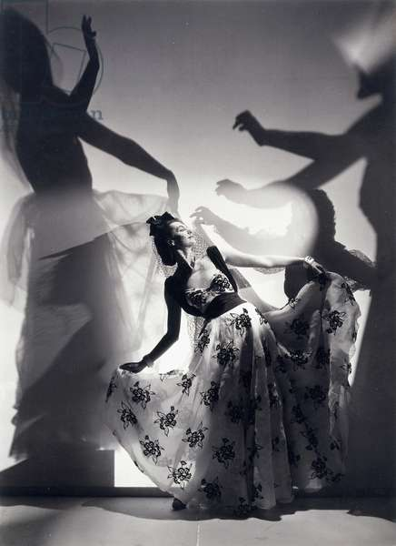 Fashion Study, Paris: Romantic fashion picture made in Paris after the ballet Errant, c.1937 (gelatin silver print)