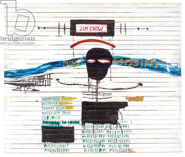 Jim Crow, 1986 (acrylic & grease stick on wood)