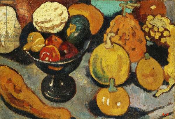 Still-life, Bowl of Fruit, 1921 (oil on canvas)