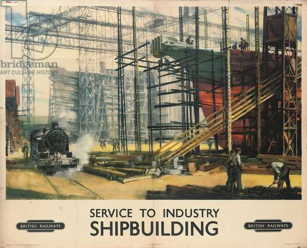 Service to Industry, Shipbuilding (colour litho)