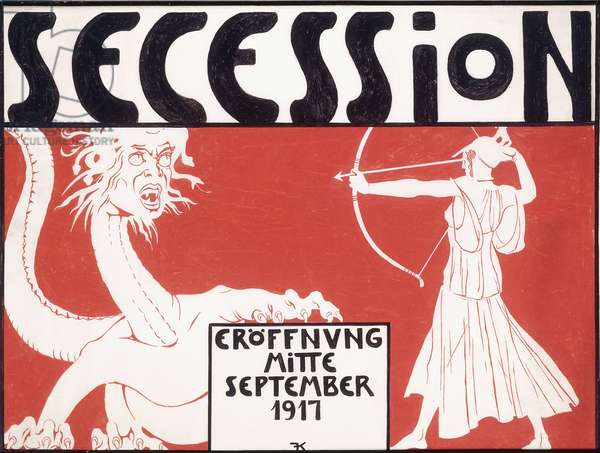 Secession eroffnung mitte september 1917', c.1917 (gouache on paper)
