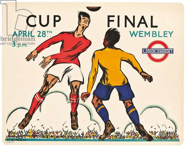 A London Transport panel poster advertising the 1934 Cup Final at Wembley Stadium, 1934 (colour lithograph)