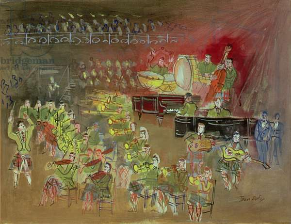 The Orchestra, c.1945 (gouache on paper)