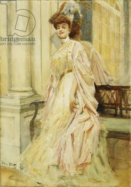 An Elegant Lady, 1905 (oil on canvas)