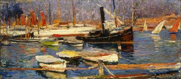 Le Port de Marseille, 1904-1918 (oil on canvas)