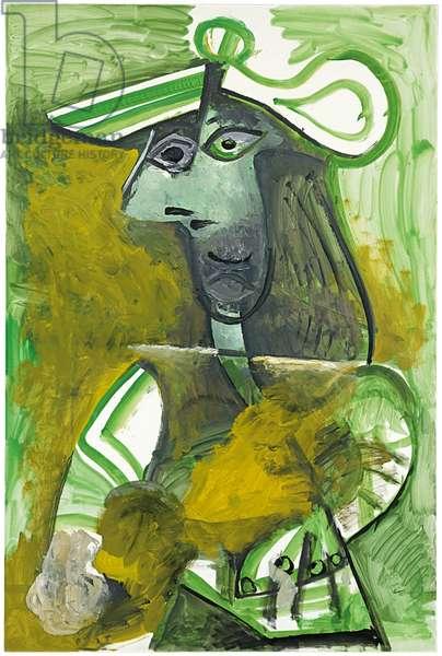 Woman with a Hat; Femme au chapeau, 1971 (oil on canvas)