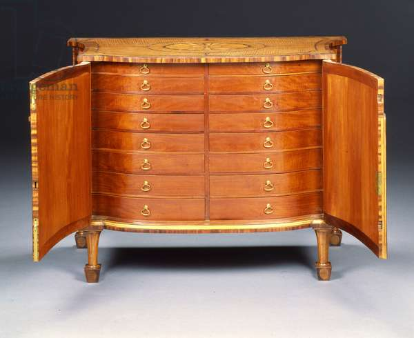 One of a pair of George III commodes (harewood & kingwood)