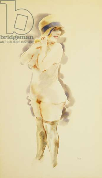 Girl of the Night; Madchen der Nacht, c.1920 (watercolour on paper)