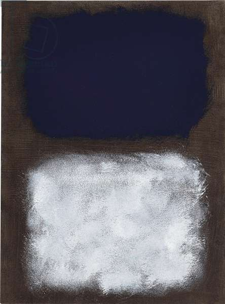 Black, White, Blue, c.1963 (acrylic on paper laid down on panel)