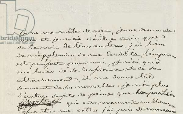 Autograph letter to Eugene de Beauharnais, Paris, 2nd January 1809 (pen & ink on paper)