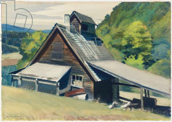 Vermont Sugar House, 1938 (w/c on paper)